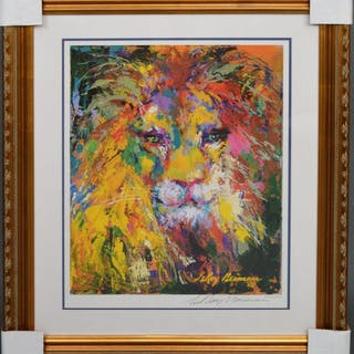 LeRoy Neiman LION - hand signed Lithograph w/ COA LeRoy
