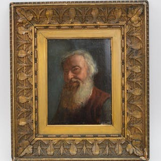 19th Century oil on Panel, old man with a beard, signed