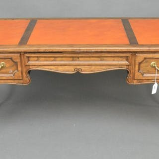 French style writing desk with 3 leather inserts on