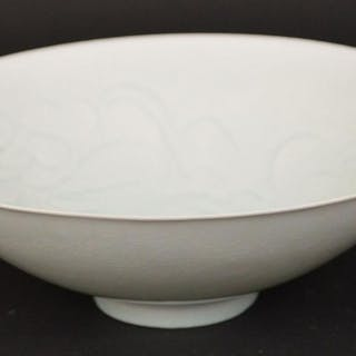 Chinese Celadon Glazed Porcelain Bowl with Floral