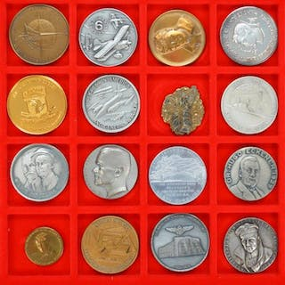 Lot of 20 Aviation Medals and Coins Commemorating: