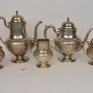 5 Piece Sterling Silver Tea Set, M. Fred Hirsch Co.