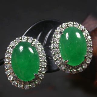 Jade Earring Closed Auction
