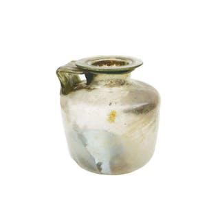 Large Ancient Roman Glass Jug c.2nd century AD.