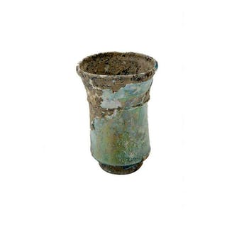 Ancient Roman Glass Footed Cup c.2nd century AD.