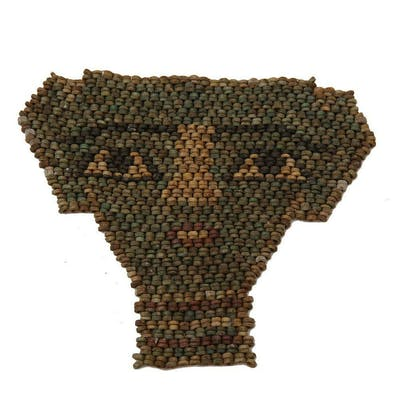 Ancient EGYPTIAN MUMMY BEAD FACE MASK LATE PERIOD