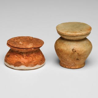 Ancient Egyptian Miniature Alabaster Vessels Middle