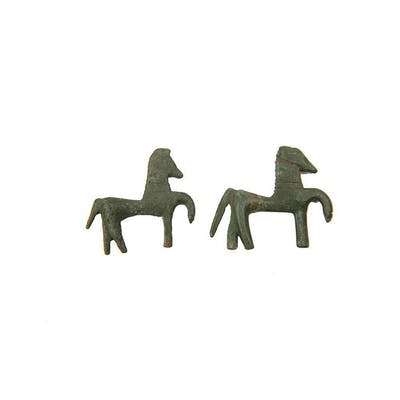 Lot of 2 Ancient Greek Bronze Horses c.2nd century BC.