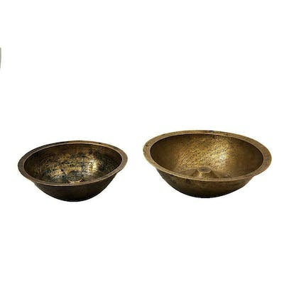 Lot of 2 Syrian Copper Magic Bowl c.late 19th century.