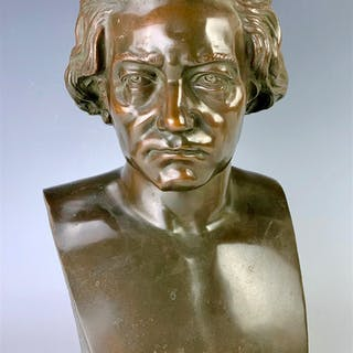 Bronze Bust of Beethoven by Gallet