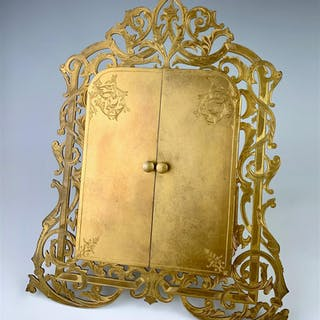 Antique French Bronze Double Door Frame C. 1900
