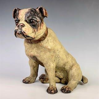 "Large Austrian Terracotta ""English Bulldog Pup"""