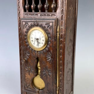Antique French Breton Chestnut Clock