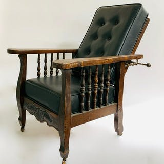 Oak Morris Chair, Salesman Sample, Child Size