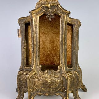 Gilt Metal French Vitrine Cabinet