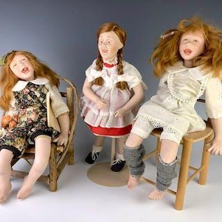 Lot of Three Artist Dolls