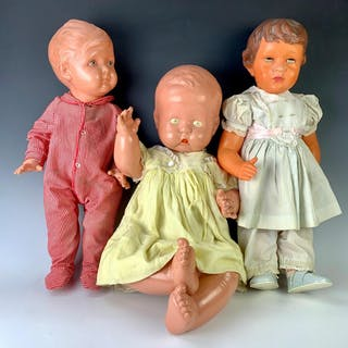 Lot of Three Vintage Celluloid Dolls