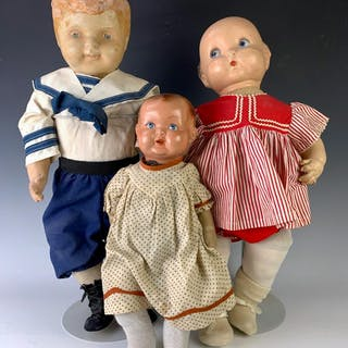 Lot of Three Composition Head Babies