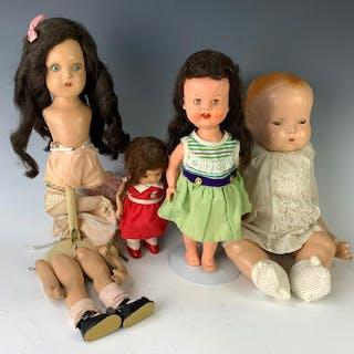 Lot of 4 Dolls