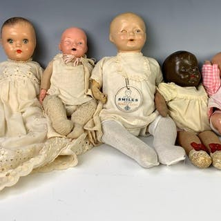 Lot of Five American Composition Babies