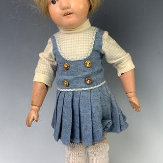 "15"" American Dolly Face Girl by Schoenhut"