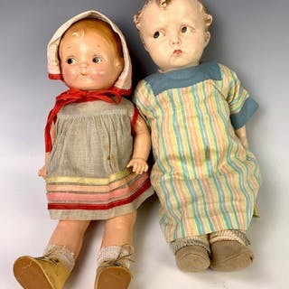 Lot of Two American Composition Dolls