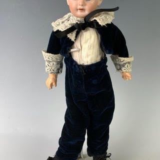 "12"" German Bisque Head Boy by Unknown Maker"