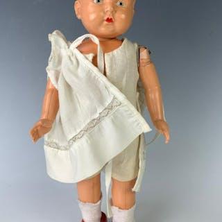 "13"" Japanese Vintage Wind-Up Walking Doll"