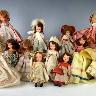 Lot of 10 Nancy Ann Storybook & 3 Nancy Ann Types
