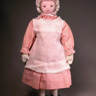 "18"" Moravian Cloth Polly Heckewelder Doll"
