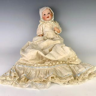 "12.5"" German Bisque Head Character Baby by Kestner"
