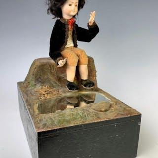 """Antique Automaton """"Admiration"""" Music Box c. 1880"""