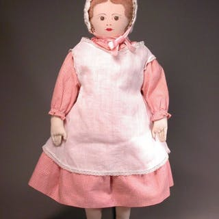 "18"" Moravian Cloth Polly Heckewelder Dolls"