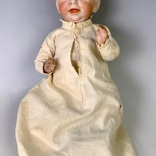 "11"" German Bisque Head Kaiser Baby by K*R"