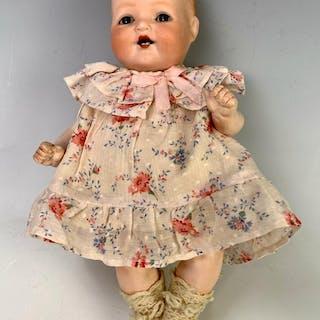 """10.5"""" German Bisque Head Character Baby"""