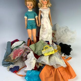 Lot of Two Fashion Dolls Plus Miscellaneous