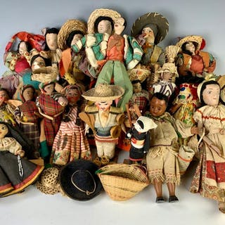 More Than 20 Souvenir Dolls from Central America