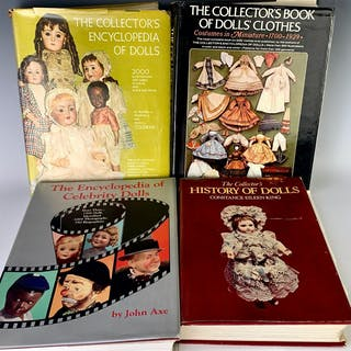 Group of 4 Doll Reference Books
