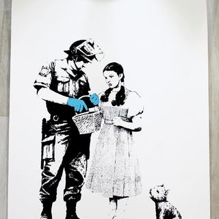 Banksy Stop & Search Screenprint Stamped 79/500