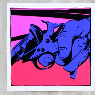 Jordan Nickel #1 Unframed Screenprint 5/50 Signed Pink
