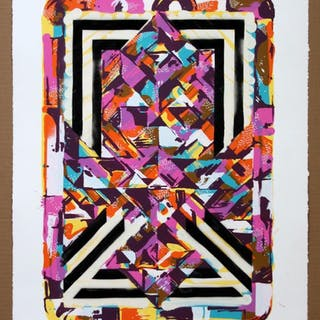 Jason Williams AKA Revok Screenprint Unframed 7/10 2013