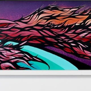 Rick Malt Untitled Spray Paint & Acrylic on Panel