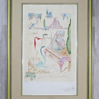 Framed Salvador Dali Pencil Signed Etching 29/175