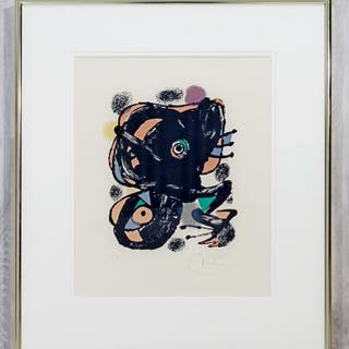 Joan Miro XXE Siecle Signed Numbered Framed Lithograph