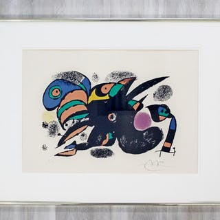 Joan Miro San Titre Artist Proof Signed Framed