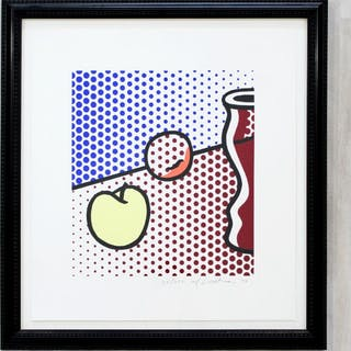 Framed Litho Still Life signed Roy Lichtenstein 1994