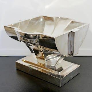 Damian Garrido Sterling Silver Vessel Table Sculpture