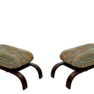 Pair of Lounge Chairs & Ottomans Russell Wright Style