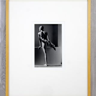 Standing Nude Silver Gelatin Photograph by Marsha Burns