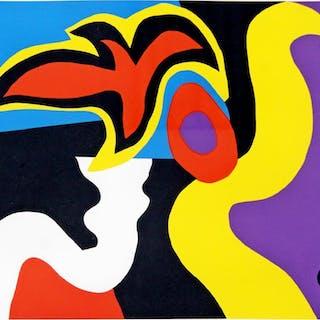 Untitled Abstract Silkscreen William Scharf 7/10